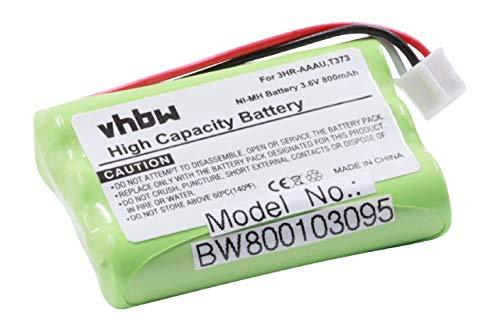 vhbw NI-MH Akku 800mAh (3.6V) für schnurlos Festnetz Handy Bang und Olufsen BeoCom 6000 wie 3HR-AAAU, T373.