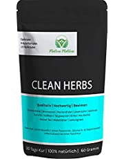Clean Herbs – unieke mix van paardenbloem, mariendistel, brandnetel, klitwortel, goudruiven, berk, taigawortel, groene thee, mate-thee, enz. – 100% natuurlijk