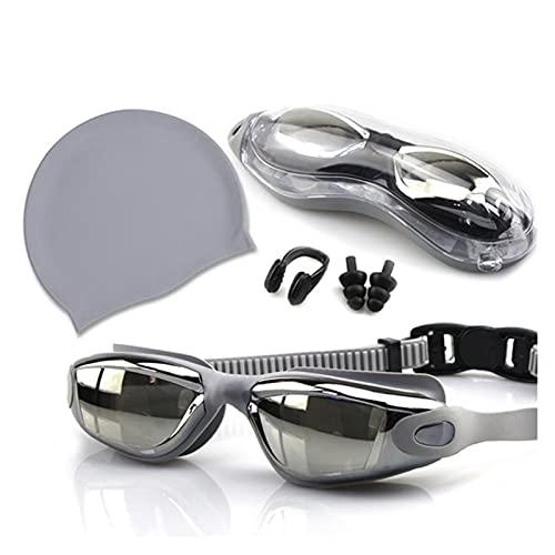 XUEXIU Gafas De Natación De Uniformes con De Baño con Clip Clip para Orejas Caja Anti-Niebla Gafas De Natación para Hombres Adultos Mujeres Nadar Gafas (Color : C)