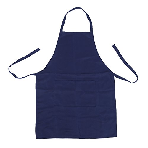 PQZATX Schuerze Kochschuerze Latzschuerze Arbeitskleidung Kuechenschuerze (Dunkelblau)