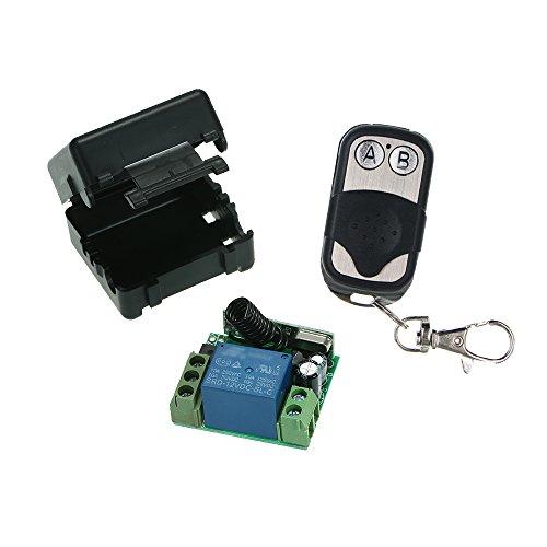 Festnight Wireless Fernbedienung Schalter Universal, 1CH Empfänger Modul und RF Sender Fernbedienungen DC 12V 433 MHz