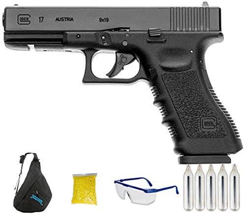 Umarex Glock 17   Pistola de Airsoft Calibre 6mm (Arma Aire Suave de Bolas de plástico o PVC). Sistema: CO2 <3,5J