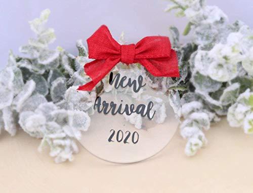 None-brands Anuncio de embarazo ornamento de embarazo ornamento de Navidad anuncio de embarazo adorno colgante adorno de árbol decoración de abuelos nueva abuela