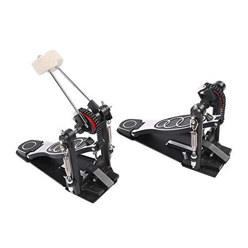 Pedal de Bombo, Juego de Accesorios de Repuesto para Pieza de Instrumento de Percusión de Pedal Doble de Metal, Negro