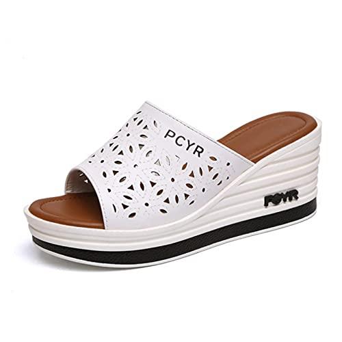 WoJogom 2021 Sandalias de Playa Transpirables Informales para Mujer Zapatillas Resbalón de Verano en Las Chanclas de Las Mujeres Zapatos para el hogar para Las Mujeres