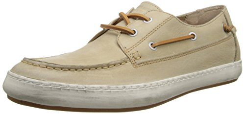 FRYE Men's Norfolk MOC Boat Shoe, Cement, 10.5 M US