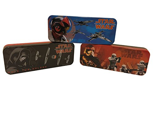 Set of 3 - Star Wars Episode 7 Tin Pencil Cases