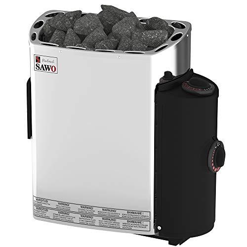 Sawo MINI/Mini X NB Trendline Sauna Warmwasserbereiter 3.6KW; mit integriertem Control Einheit: Thermostat und Timer; 230V 1N oder 400V 2N; Wandmontage Installation