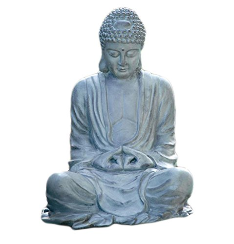 Verdigris Finish Aluminum Buddha Garden Statue Indoor/Outdoor