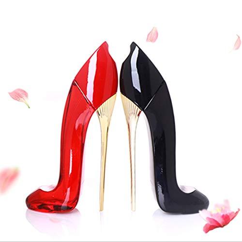 Diseño De Perfume Floral Fragancia Perfume Duradero Largo Negro 30ml Lady Zapatos De Tacón Alto
