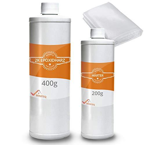 BEKATEQ Epoxidharz mit Härter - GFK Reparatur Set - BK-170EP - 0,6KG mit Rovinggewebe 300g/qm