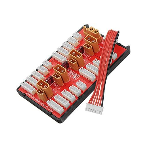 NancyMissY ハーギングボードXt60 + Xt30ツーインワンパラレル充電ボードPower-Geniusプラグは、Rcモードスペアパーツ用の4ブロック2-8Sリポバッテリーをサポートします
