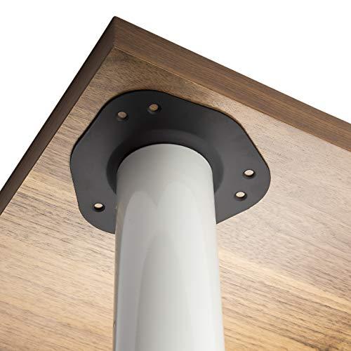 4er Set SO-TECH® Tischbeine/Höhe 710 mm/Höhenverstellbar/Ø 60 mm/WEIß/Tragkraft bis 75Kg je Fuß/Schreibtischbeine Möbelbeine Tischfüße