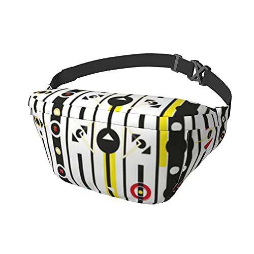 Sport Brusttasche Messenger Bag Bauchtasche Variation Bauhaus Große Kapazität Reißverschluss Verstellbarer Schultergurt für Outdoor-Aktivitäten