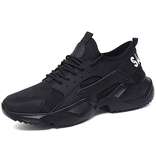 CHNHIRA Chaussures de Travail Homme Embout Acier Protection Antidérapante Anti-Perforation Chaussures de Sécurité Unisexes (EU43 Anoir x)