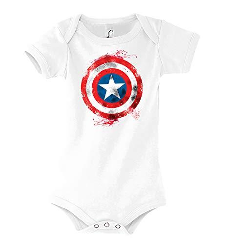 TRVPPY Baby Kurzarm Body Strampler Modell Vintage Captain America 2