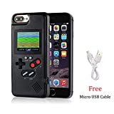Gameboy Case for iPhone 11, Chu9 Retro 3D Playable Gameboy Cover Case with 36 Classic Games, Handheld Color Screen Video Game Console Case for iPhone (Black, iPhone 11)
