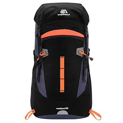 Bolsa de Viaje Mochila de Camping Senderismo Ejército Bolsas de Escalada Trekking Montañismo Mochila Deportiva de Gran Capacidad 50L