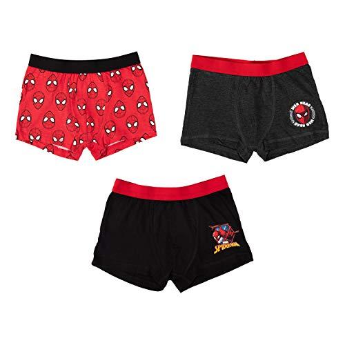 United Labels Spider-Man - Boxershorts Jungen 3er Pack, Kinder Unterhose Unterwäsche (134/140)