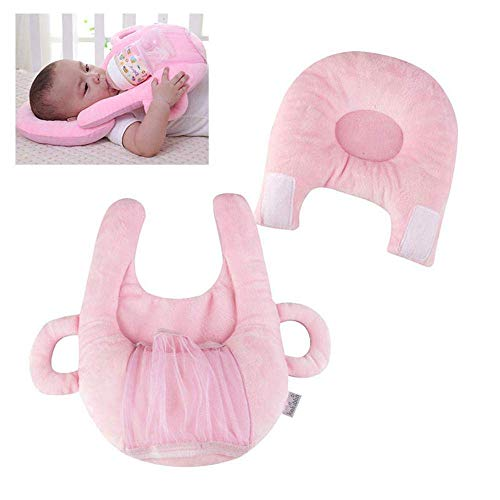 Baby Bottle Holder Support Infant Cushion Baby Self Feeding Cotton Pillow Baby Head Shaping Sitting Learning Pillow Xincheng Baby Nursing Pillow Detachable Breastfeeding Pillowcase