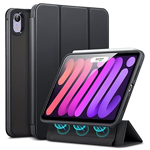 ESR Hybrid Hülle kompatibel mit iPad Mini 6 2021 (6. Generation), 8,3 Zoll, abnehmbare magnetische Abdeckung, Hybrid Rückenschale, Frosted Black