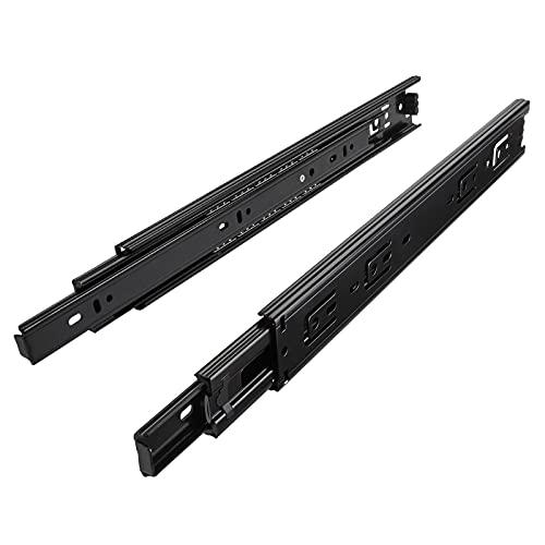 1 par (2 piezas) SO-TECH Guía para Cajón de Extracción total Carril de Cajón Negro 750 mm...