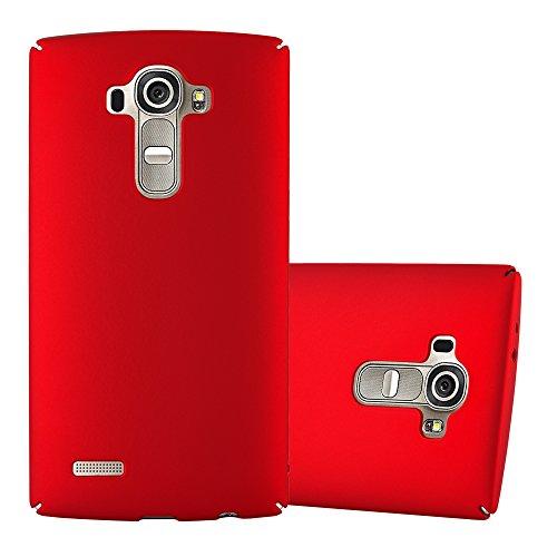 Cadorabo Custodia per LG G4 / G4 Plus in Rosso Metallo - Rigida Cover Protettiva Sottile con Bordo Protezione - Back Hard Case Ultra Slim Bumper Antiurto Guscio Plastica