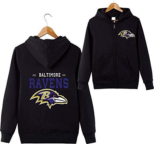 xisnhis Patrón Uniforme 3D Sudaderas Baltimore Ravens Equipo de fútbol de los Hombres de la impresión Digital Cremallera Chaqueta Amante Sudaderas,Rugby Jersey,Jersey Rugby