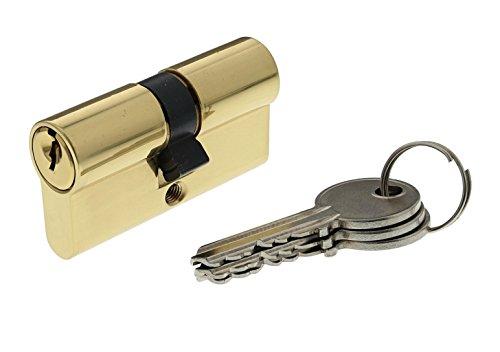 Bricard 30101 Cylindre de serrure double entrée Securipro dimension 30+30 mm en Laiton