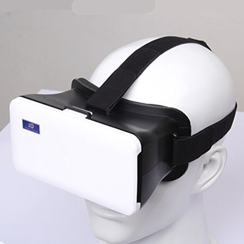 Plastic Virtual Reality 3D Video Bril voor Android iOS 4.3-6.3inch Smart Phones, Wit.