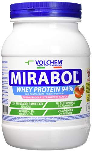 Volchem Mirabol Whey Protein 94%, Bianco, Fragola, 750 Grammi