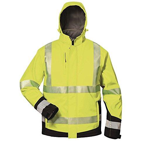 Elysee 23426-S Warnschutz-Winter Softshelljacke Melvin Größe S in gelb/schwarz, S