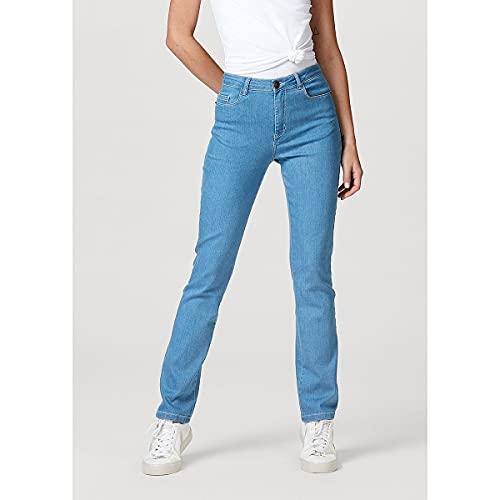 Calça Jeans Modelagem Reta em Algodão e Elastano, Feminina, Hering