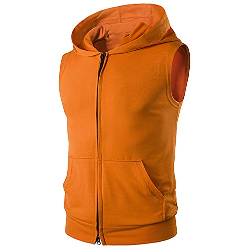 Sudadera con capucha de algodón con capucha para entrenamiento, chaleco de fitness para hombre
