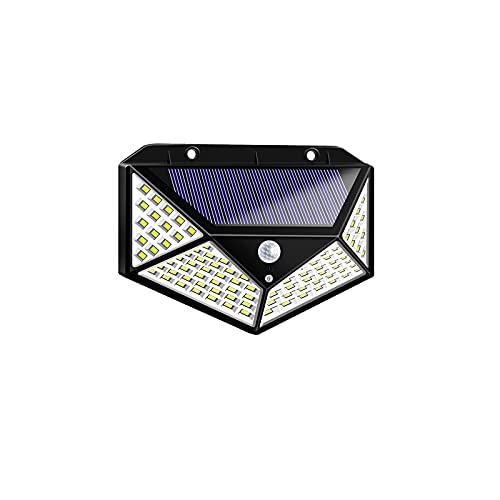 Solarlampen 1StückSolarlampen Für Außen Mit Bewegungsmelder 1500 Lumen,180LED Umweltschutz Solar Aussenleuchte Led Solarleuchten Für Außen Solar Wasserdichte Wandleuchte Solar Bewegungsm(Size:100 LED)