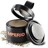 IMPERIO Ansatzpuder - Haar Concealer zur Haarverdichtung für Frauen und Männer, wasserfestes Haar Make-up zum Ansatz kaschieren - 4g (Hellbraun)