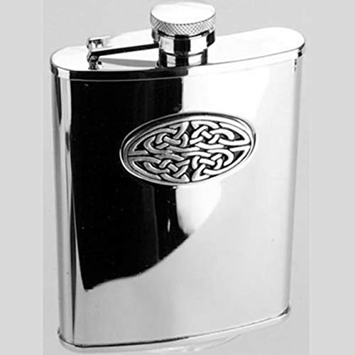 Claymore Imports Hip Flask, Celtic Weave, 4oz