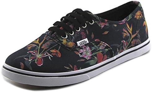 Vans - Authentic Lo Pro Fleur Noire Mixte Adulte, Multicolore ...