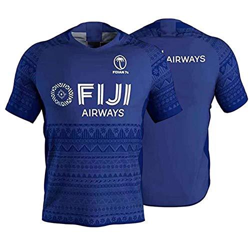 2020 Fidschi Sevens Männer Rugby Jersey, Fidschianische 7s Training Rugby-T-Shirt, Fußball-Hemd Für Männer Frauen S