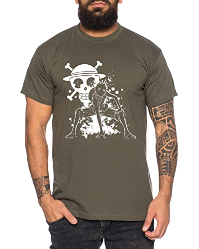 Ruffy Angry Gear Zoro One Manga Camiseta...