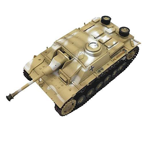 1/72 Scale Diecast Tank Modelo de plástico, sturmgeschütz III Arma de Asalto Alemania, Juguetes Militares y Regalos, 3 Pulgadas x 1.6 Pulgadas