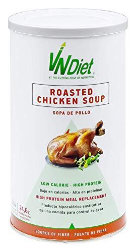 VNDiet - Batido Sustitutivo de Comida para Dieta | Batido para Adelgazar con Proteínas, 490gr, Sopa de Pollo