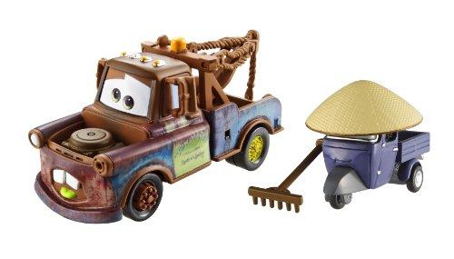 Disney Mattel Cars 2 - Juego de Coches en Miniatura (Mate y Pitty)