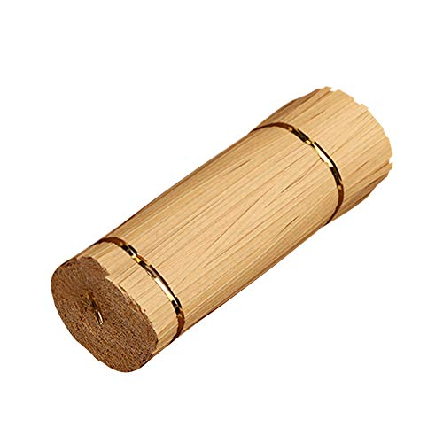 YOFASEN Papel Kraft Twist Ties - 1000PCS Lazos de torcedura Decorativos Alambre para Precintar Bolsas de Dulces Galleta, Marrón, 15cmx4mm