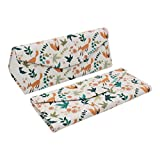REAL SIC Adorable Animal Glasses Case - Magnetic Folding Leather Feel Hard Case for All Glasses (Foxes)