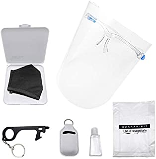 6PCS Facessentials and More: Travel Quaran KIT includes mask container, holder keychain with stylus, door tool opener and ...