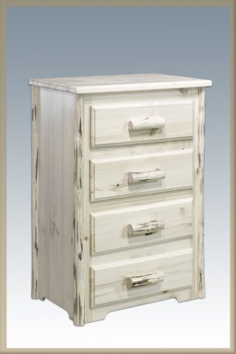 Montana Woodworks Collection 4 -Drawer Chest of Drawers, Clear Lacquer Finish
