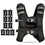 Weighted Vest Men Women Adults - Adjustable Weight Vest with Shoulder Pads and 12 lbs Included - Training Body Weights Cover Chest Shirt and Clothing for Running Workouts