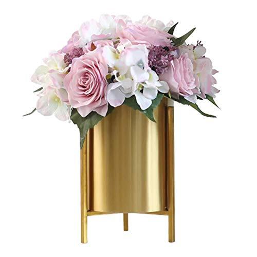 Bbhhyy Blumenständer Blumentopfhalter Metall Nordic Living Room Nordic Simplicity Trockenblumengesteck Desktop Vase Dekoration Pflanzenständer, Langlebig