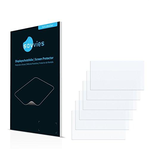 6x Savvies SU75 UltraClear Displayschutz Schutzfolie für Clarion NX403EV (ultraklar, einfach anzubringen)
